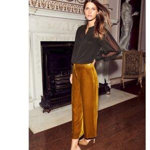 Boden Soft Silk Velvet Culottes Pants Size 14